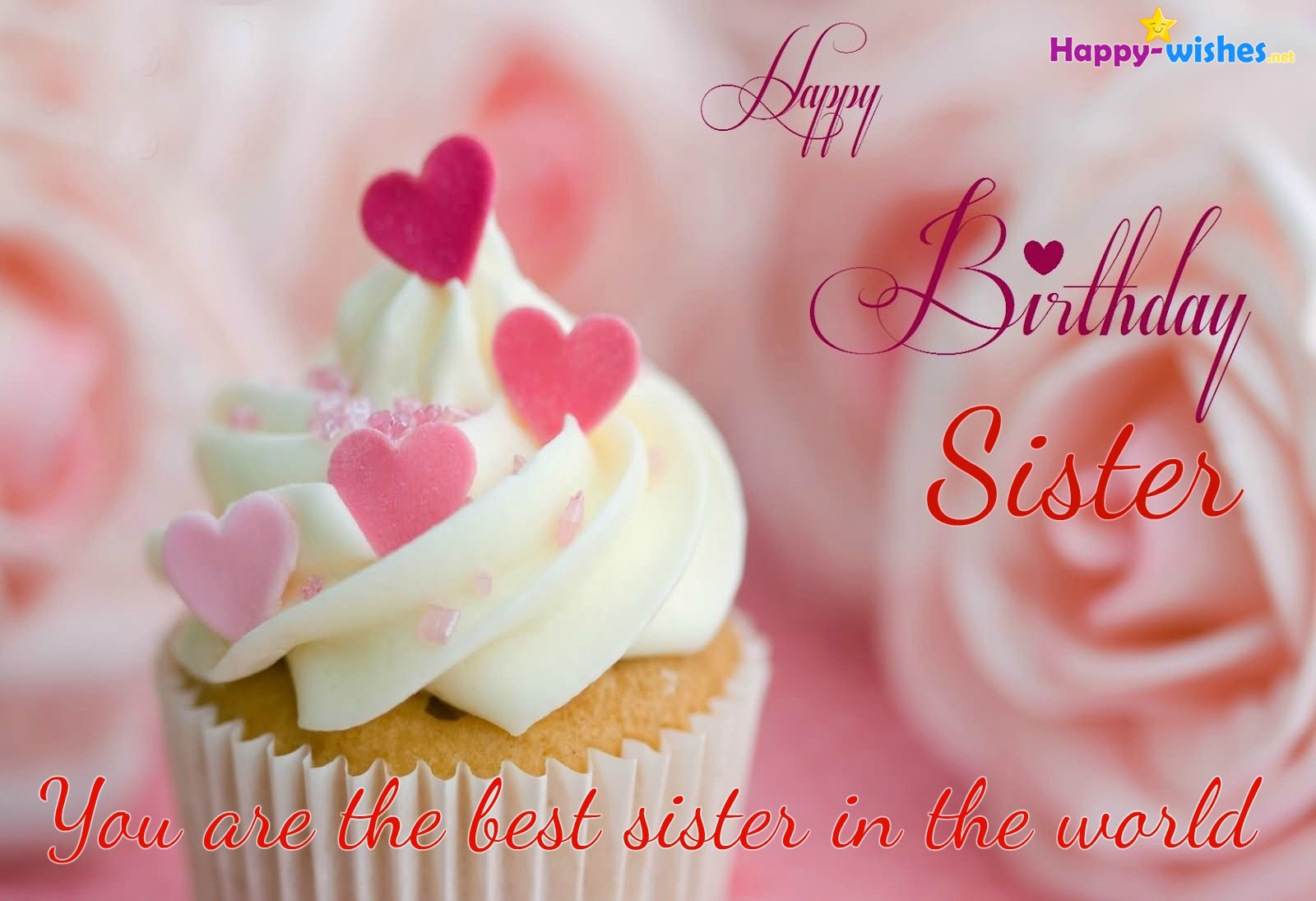 Best ideas about Birthday Wishes For Sister Images . Save or Pin Happy Birthday Wishes For Sister Quotes images and Now.