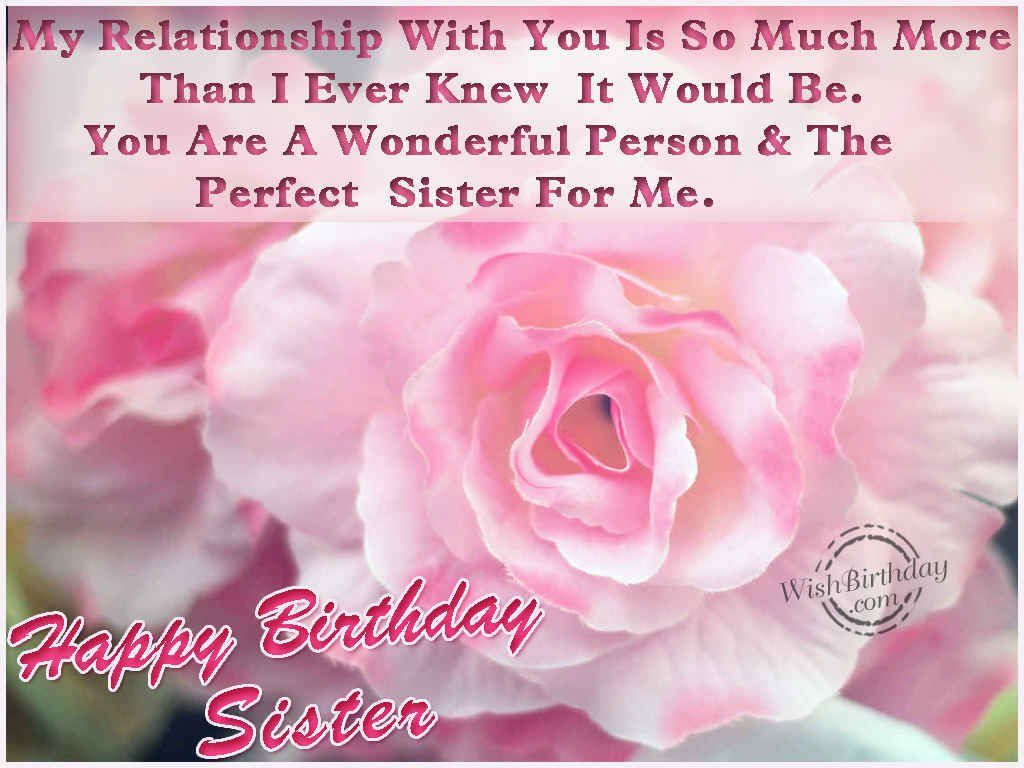 Best ideas about Birthday Wishes For Sister Images . Save or Pin Happy Birthday Sister s and for Now.