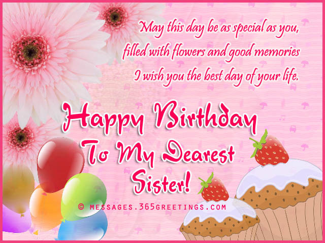 Birthday Wishes For Sisters  Birthday wishes For Sister that warm the heart