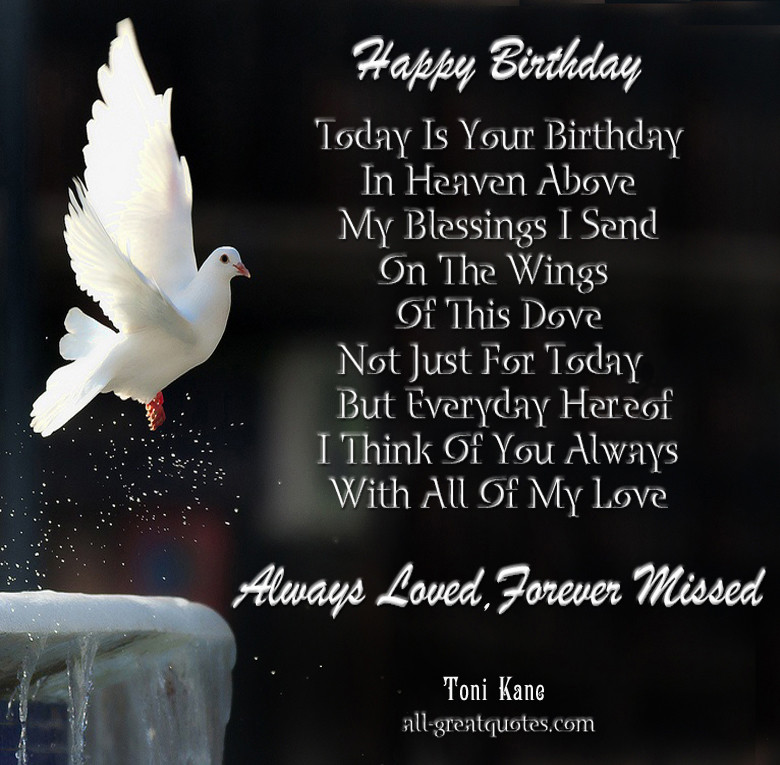 Birthday Wishes In Heaven  Happy Birthday Quotes for People in Heaven