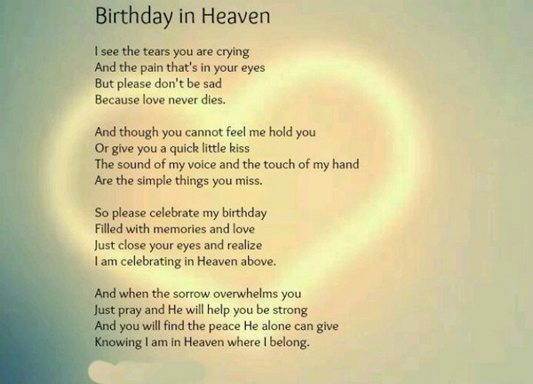 Birthday Wishes In Heaven  The 60 Happy Birthday in Heaven Quotes