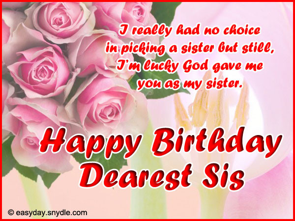 Best ideas about Birthday Wishes To A Sister . Save or Pin Happy Birthday Wishes and Birthday Birthday wishes Now.