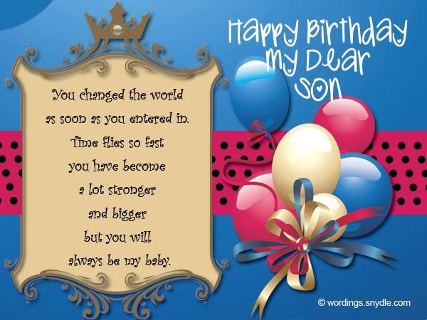 Birthday Wishes To A Son  Happy Birthday Son Quotes Wishes for Son on His Bday