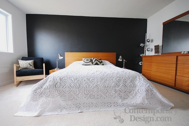 Best ideas about Black Accent Wall Bedroom . Save or Pin Black accent wall in bedroom Now.