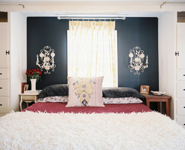 Best ideas about Black Accent Wall Bedroom . Save or Pin Black Bedroom s 58 of 90 Lonny Now.