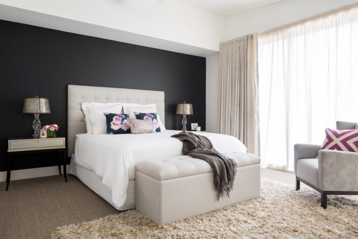 Best ideas about Black Accent Wall Bedroom . Save or Pin 21 Bedroom Accent Wall Colour Designs Decor Ideas Now.