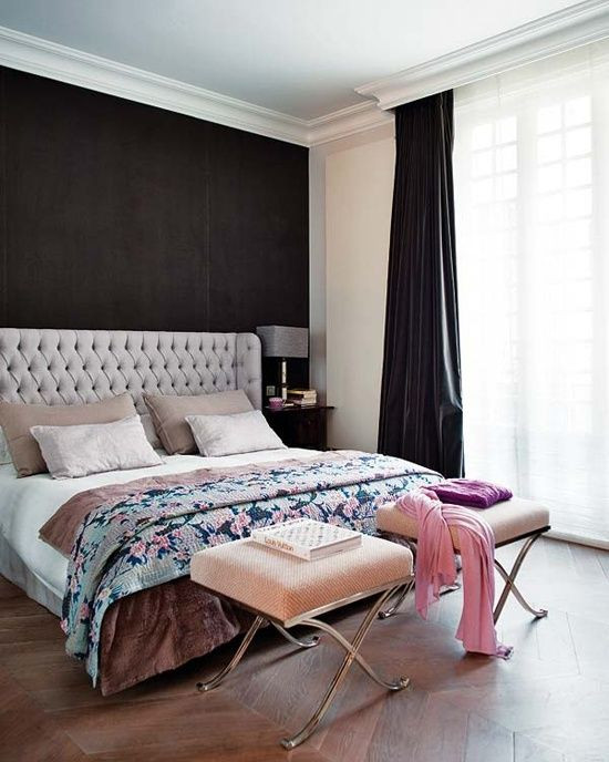Best ideas about Black Accent Wall Bedroom . Save or Pin Black accent walls Wall headboard and Dark on Pinterest Now.