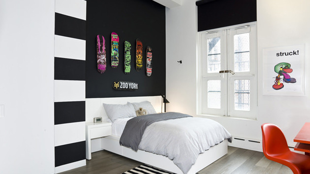Best ideas about Black Accent Wall Bedroom . Save or Pin 20 Beautiful Black Accent Walls in Different Bedrooms Now.