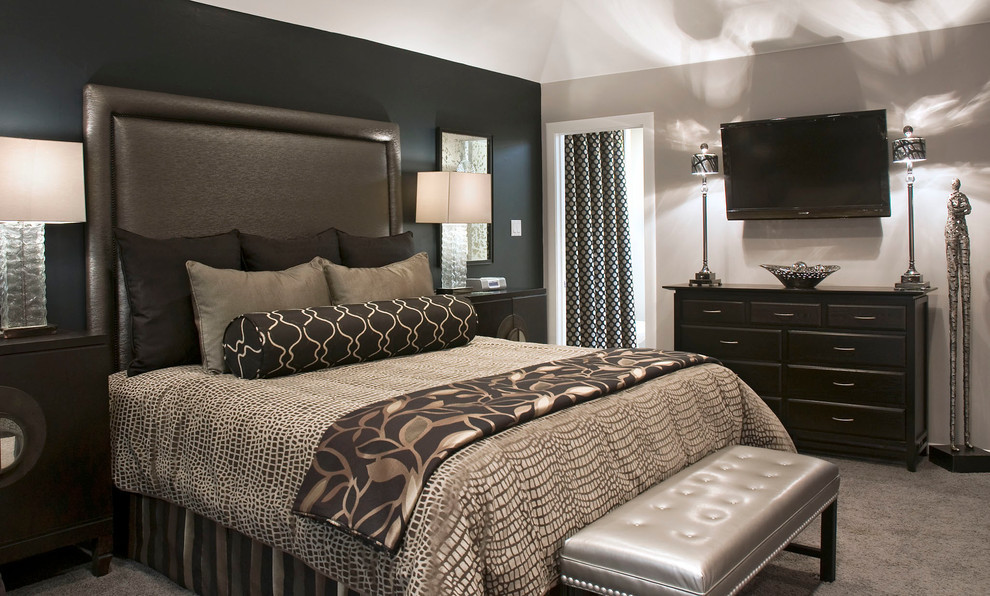 Best ideas about Black Accent Wall Bedroom . Save or Pin Bedroom Decorating Ideas With Accent Wall HOME DELIGHTFUL Now.