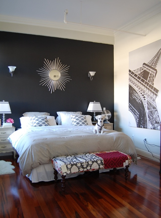 Best ideas about Black Accent Wall Bedroom . Save or Pin black paint for bedroom walls 2017 Grasscloth Wallpaper Now.