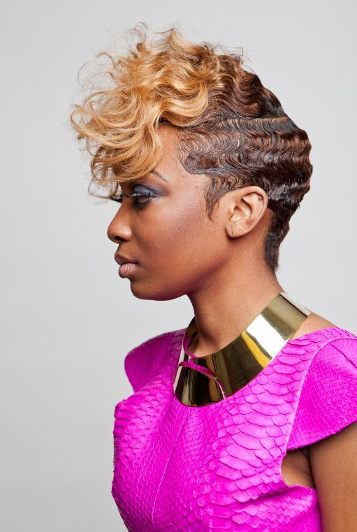 Best ideas about Black Hair Finger Waves Hairstyles . Save or Pin 19 best soft short styles images on Pinterest Now.