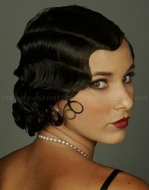 Best ideas about Black Hair Finger Waves Hairstyles . Save or Pin finger waves hairstyle medium hairstyles Now.