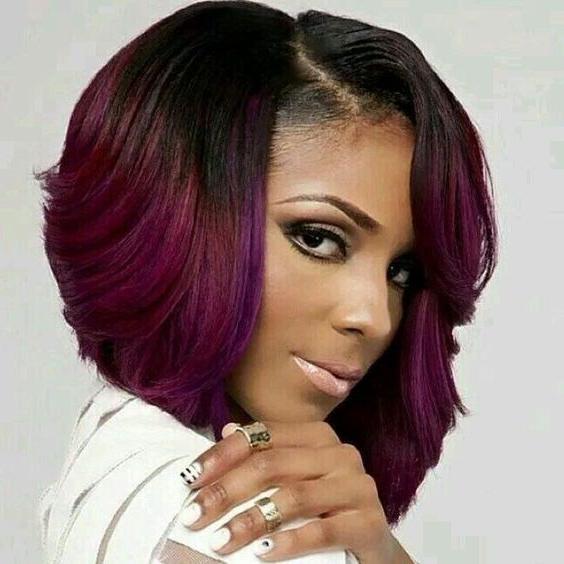 Black Short Bob Hairstyles 2019  2019 Popular Short Colored Bob Hairstyles