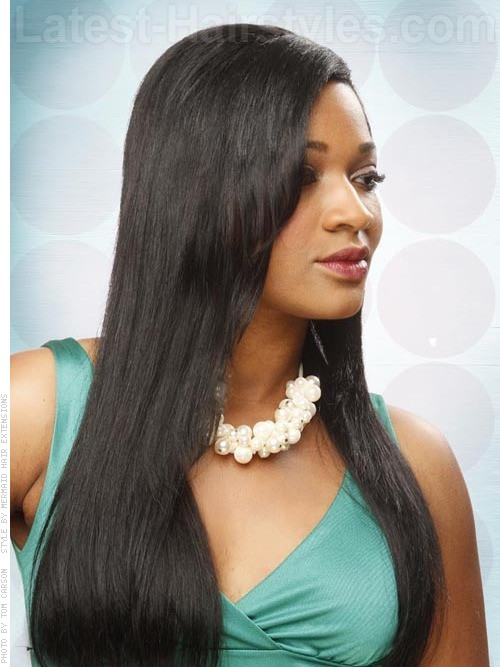 Black Straight Hairstyles  31 Long Straight Hairstyles That Are Hot Right Now