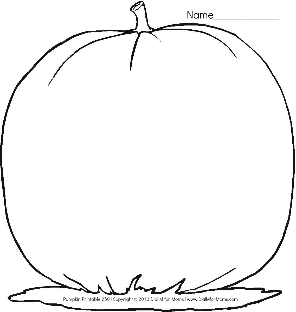 Best ideas about Blank Pumpkin Coloring Sheets For Kids . Save or Pin Blank Pumpkin Template Now.