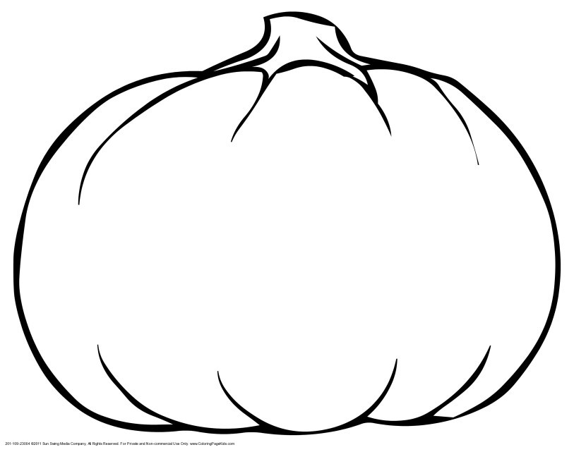 Best ideas about Blank Pumpkin Coloring Sheets For Kids . Save or Pin Pumpkin Outline Printable Clipartion Now.