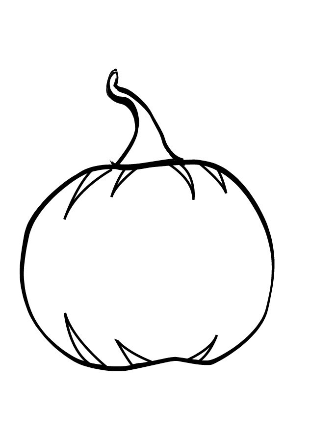Best ideas about Blank Pumpkin Coloring Sheets For Kids . Save or Pin Blank Pumpkin Printable Coloring Page Now.