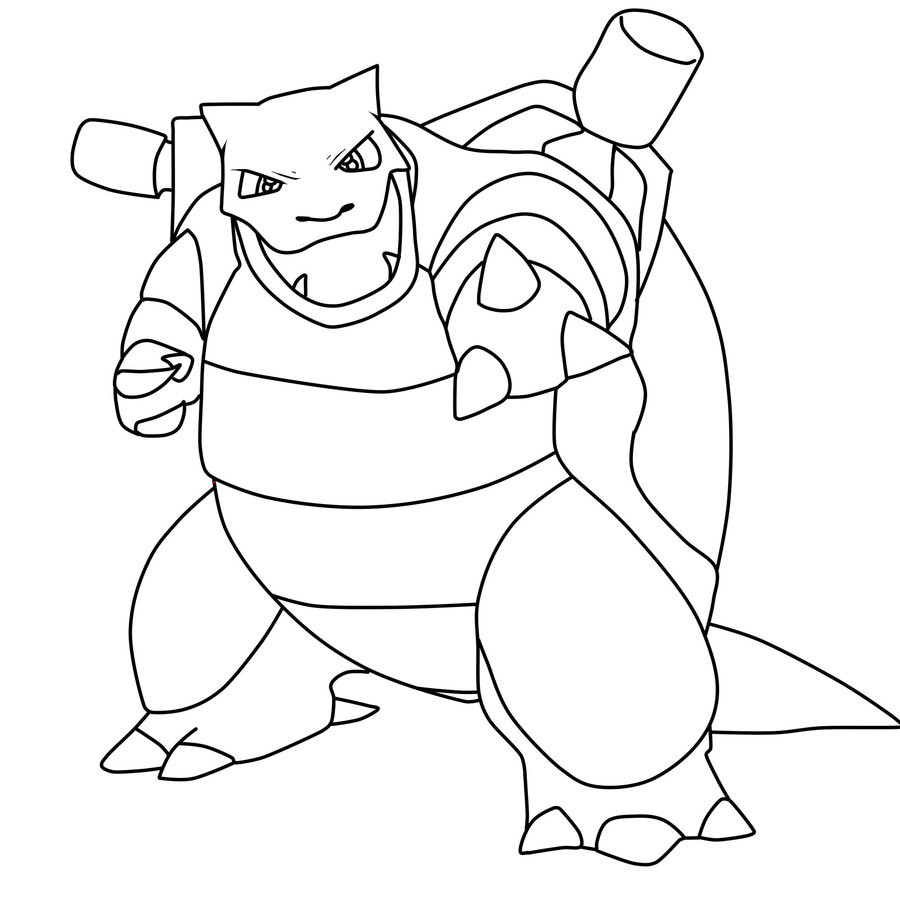 Blastoise Coloring Pages  Blastoise Coloring Pages