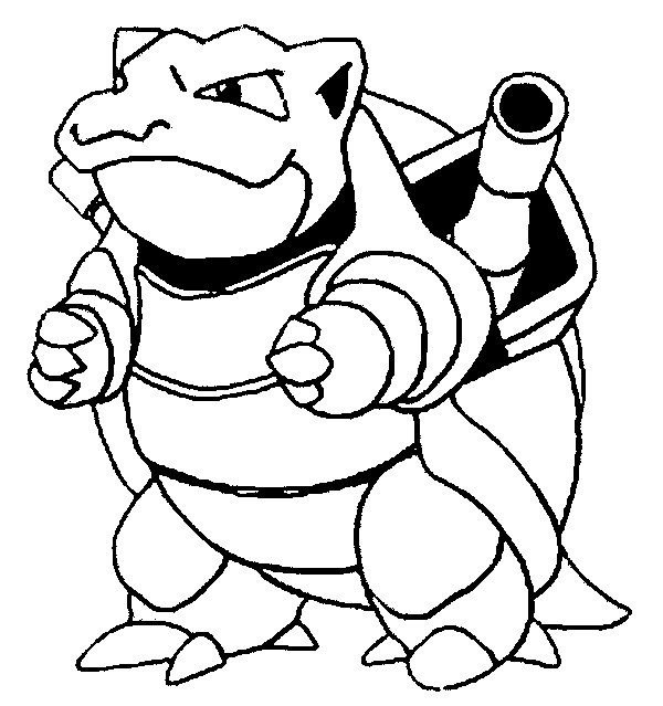 Blastoise Coloring Pages  Coloring Pages Pokemon Blastoise Drawings Pokemon