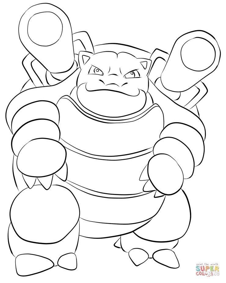 Blastoise Coloring Pages  Blastoise coloring page