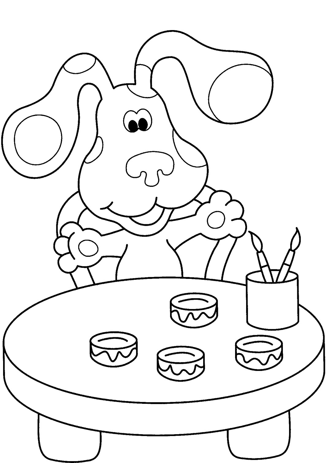Blue Coloring Pages For Kids  Free Printable Blues Clues Coloring Pages For Kids