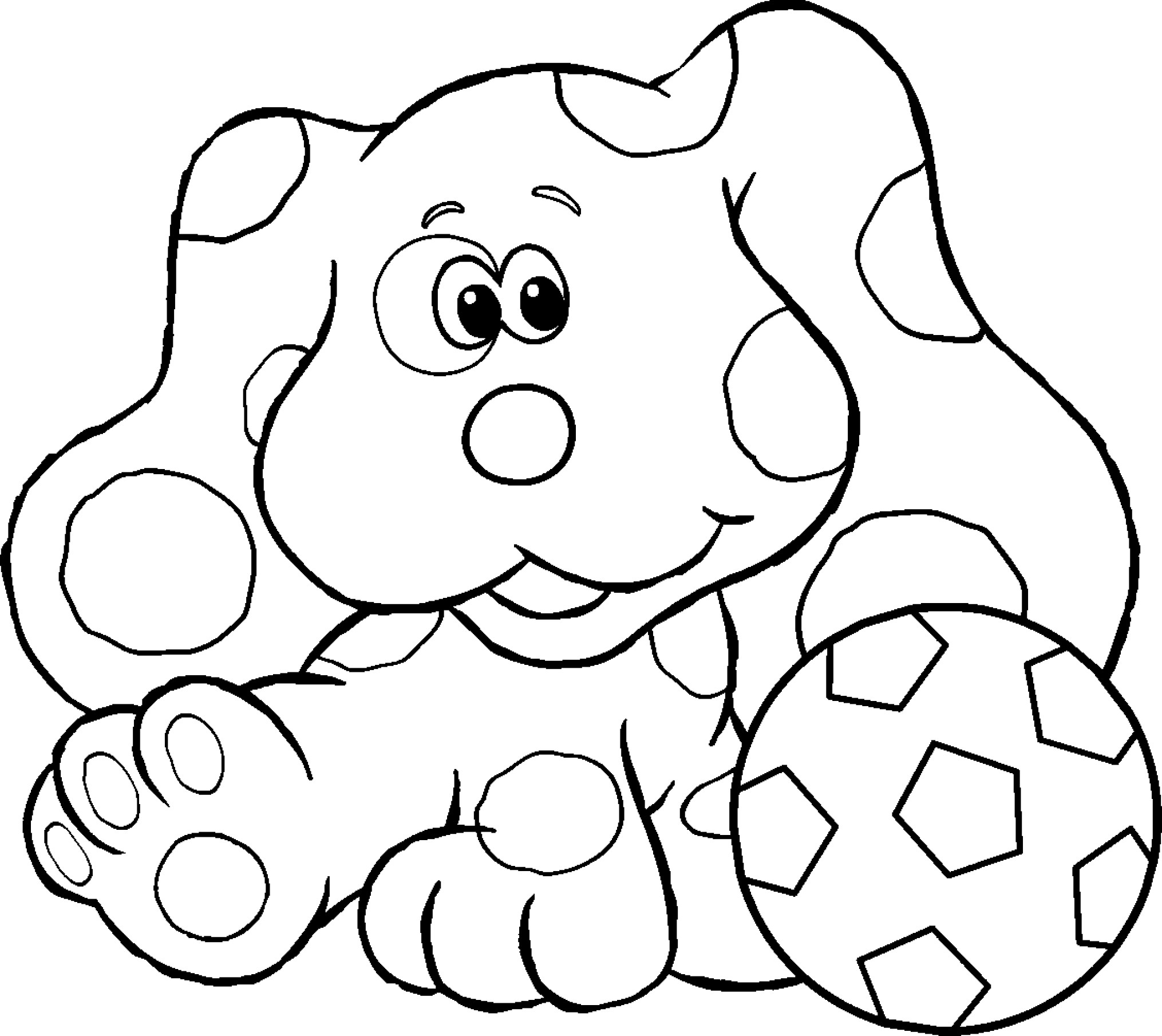 Blue Coloring Pages For Kids  Blue s Clues Coloring Page Soccer