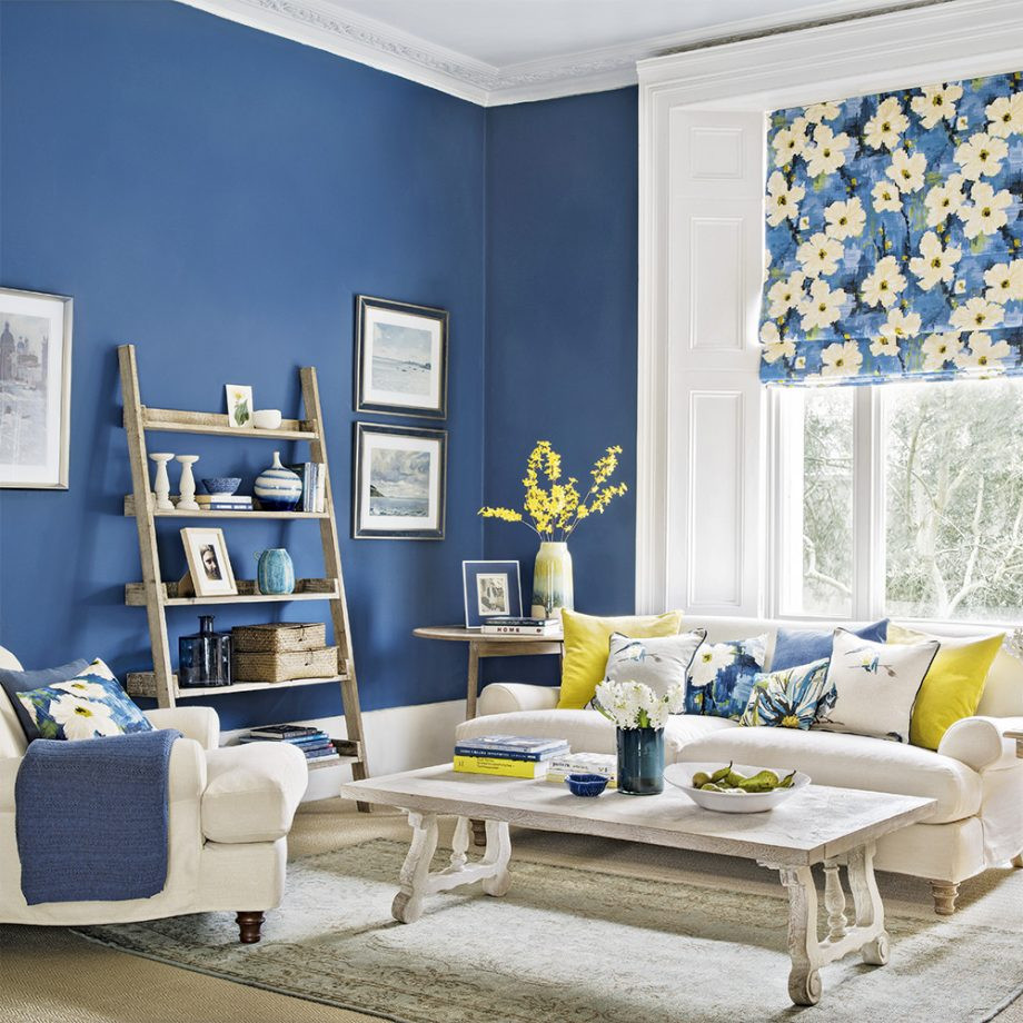 Best ideas about Blue Living Room . Save or Pin Yellow And Blue Living Room Now.