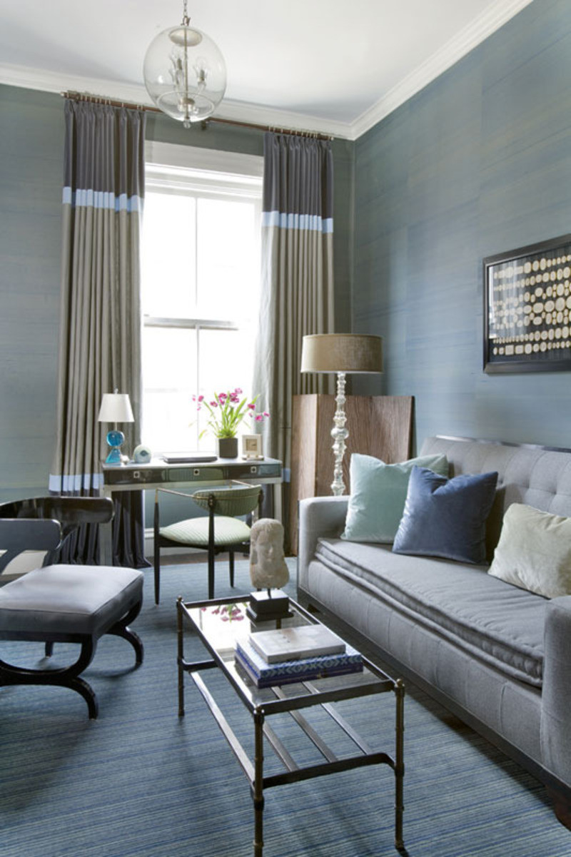 Best ideas about Blue Living Room . Save or Pin Navy Blue And Grey Living Room Now.