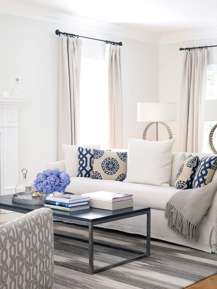Best ideas about Blue Living Room . Save or Pin Unique Blue and White Living Room Design Ideas Now.