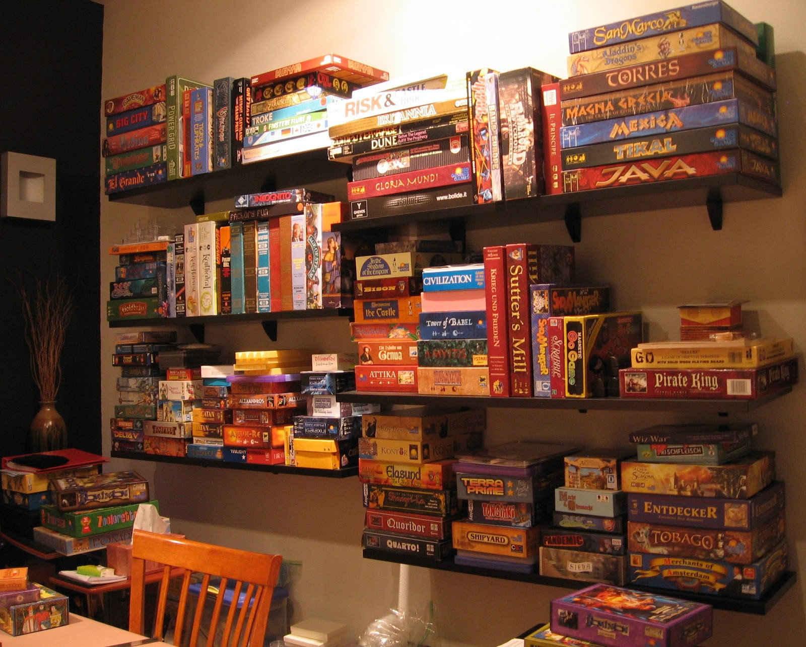 Best ideas about Board Game Room . Save or Pin Matt s Board Game Back Room Back Stock Games that will Now.