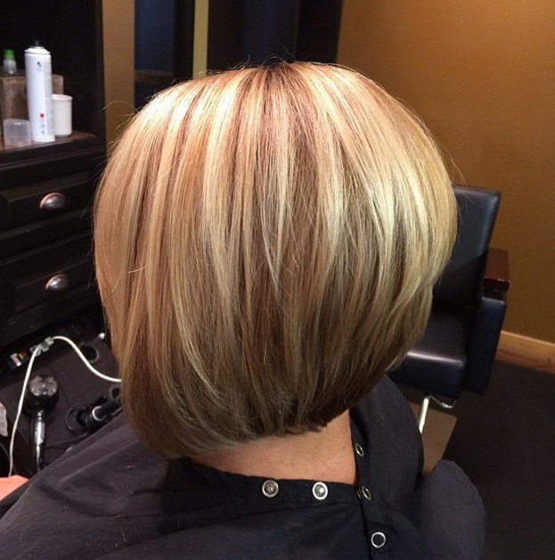 Bob Haircuts With Highlights  21 Gorgeous Stacked Bob Hairstyles PoPular Haircuts