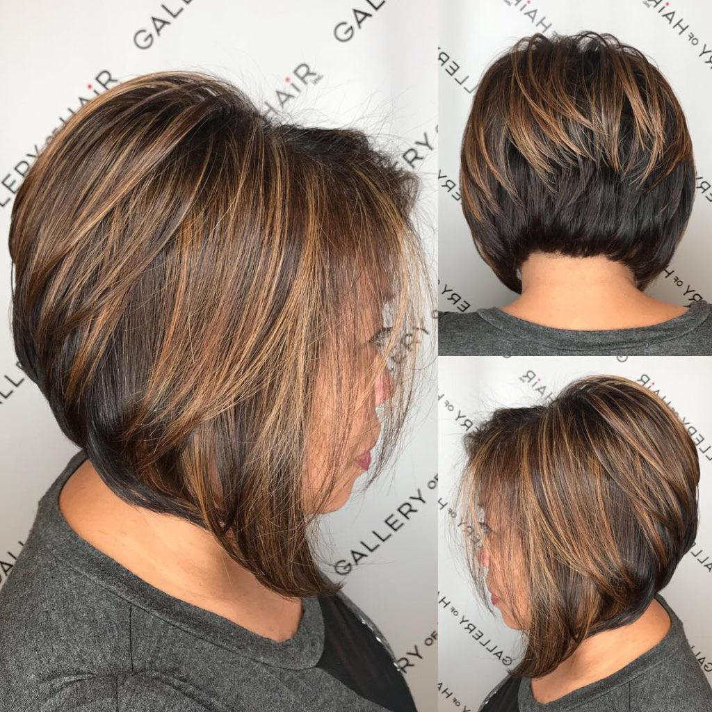 Bob Haircuts With Highlights  Short Brunette Hairstyles With Highlights HairStyles