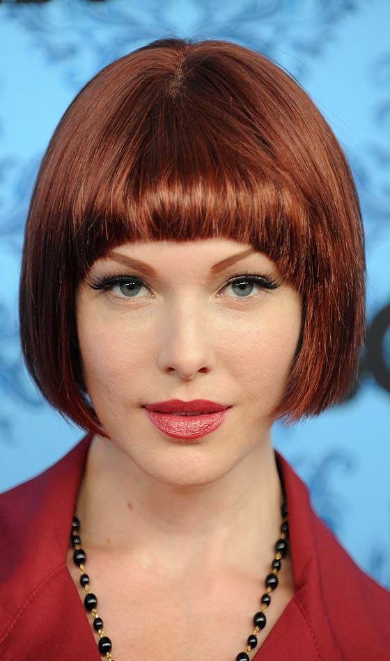 Bob Hairstyles With Bangs  Bob hair style with bangs