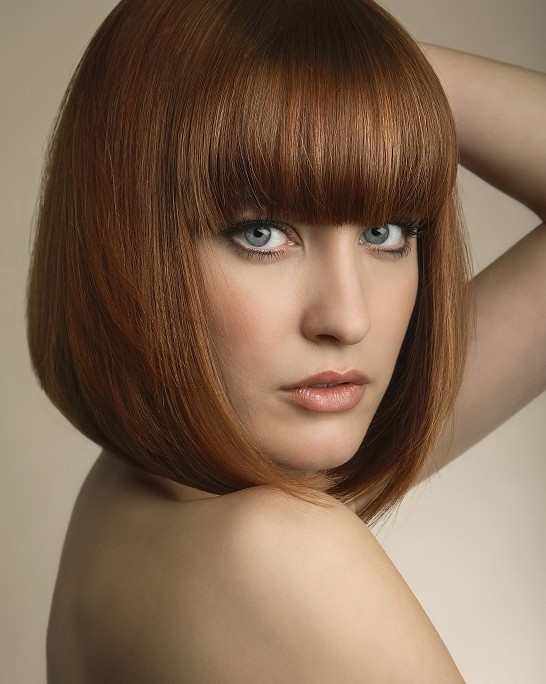 Bob Hairstyles With Bangs  Short Haircuts with Bangs Side Swept Choppy & Straight
