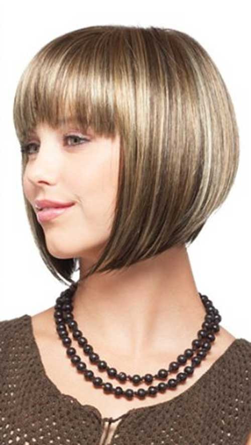 Bob Hairstyles With Fringe  Chin Length Bobs