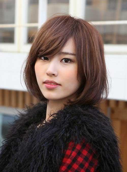 Bob Hairstyles With Fringe  Short Straight Hairstyles with Bangs