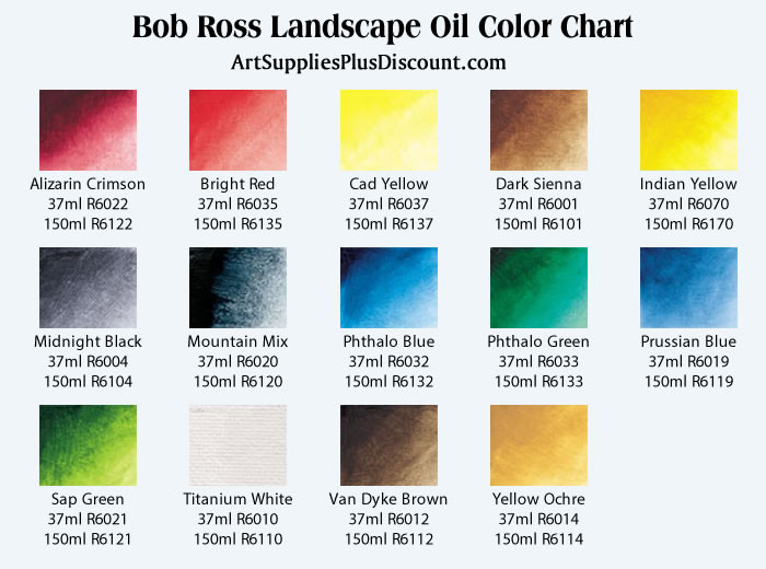 Best ideas about Bob Ross Paint Colors . Save or Pin Blog Art Supplies Plus Discount – art & office supplies at Now.