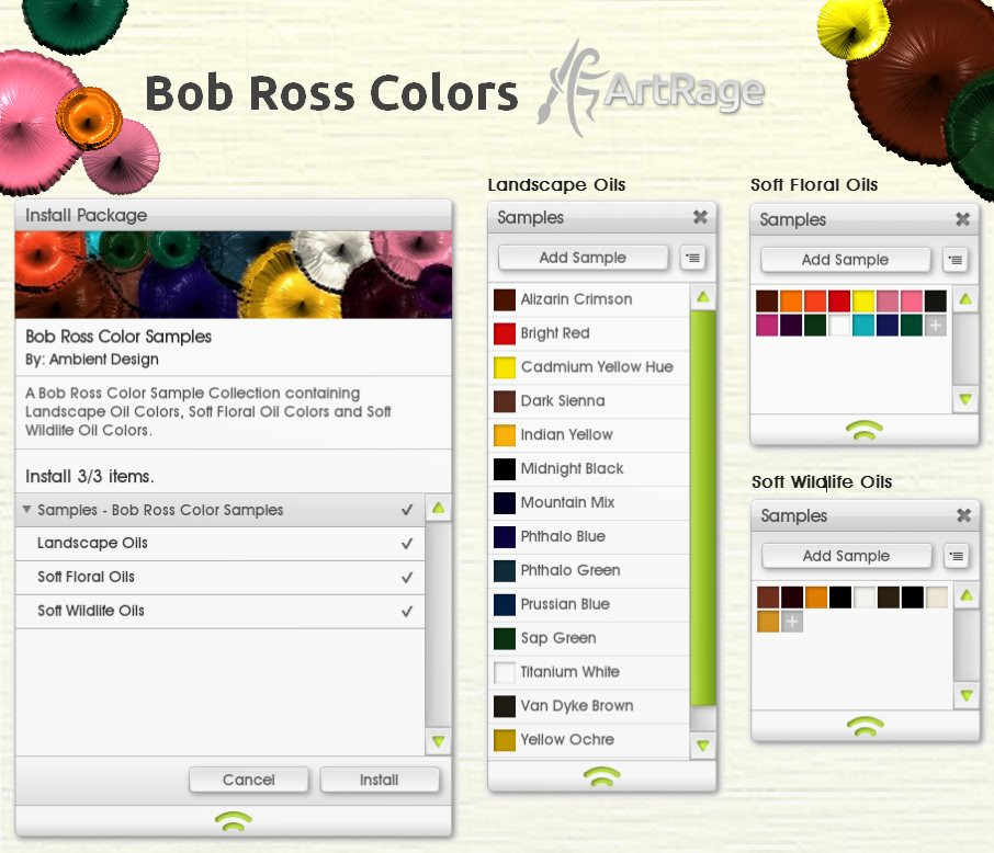 Best ideas about Bob Ross Paint Colors . Save or Pin Bob Ross Colors for ArtRage by ArtRageTeam on DeviantArt Now.