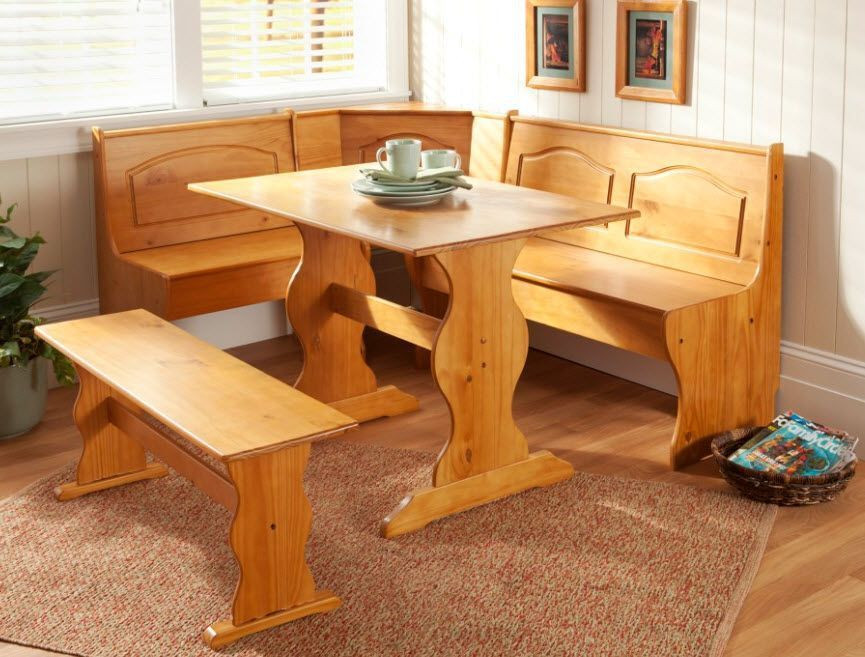 Best ideas about Booth Dining Table . Save or Pin Kitchen Nook Corner Dining Breakfast Set Table Bench Chair Now.