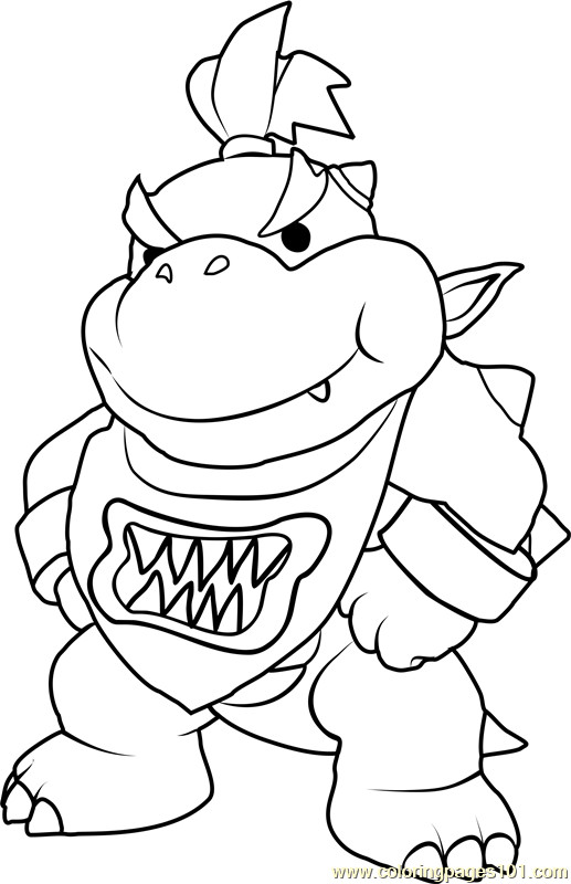 Bowser Jr Coloring Pages  Bowser Jr Coloring Page Free Super Mario Coloring Pages