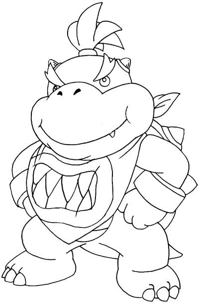 Bowser Jr Coloring Pages  Bowser Jr