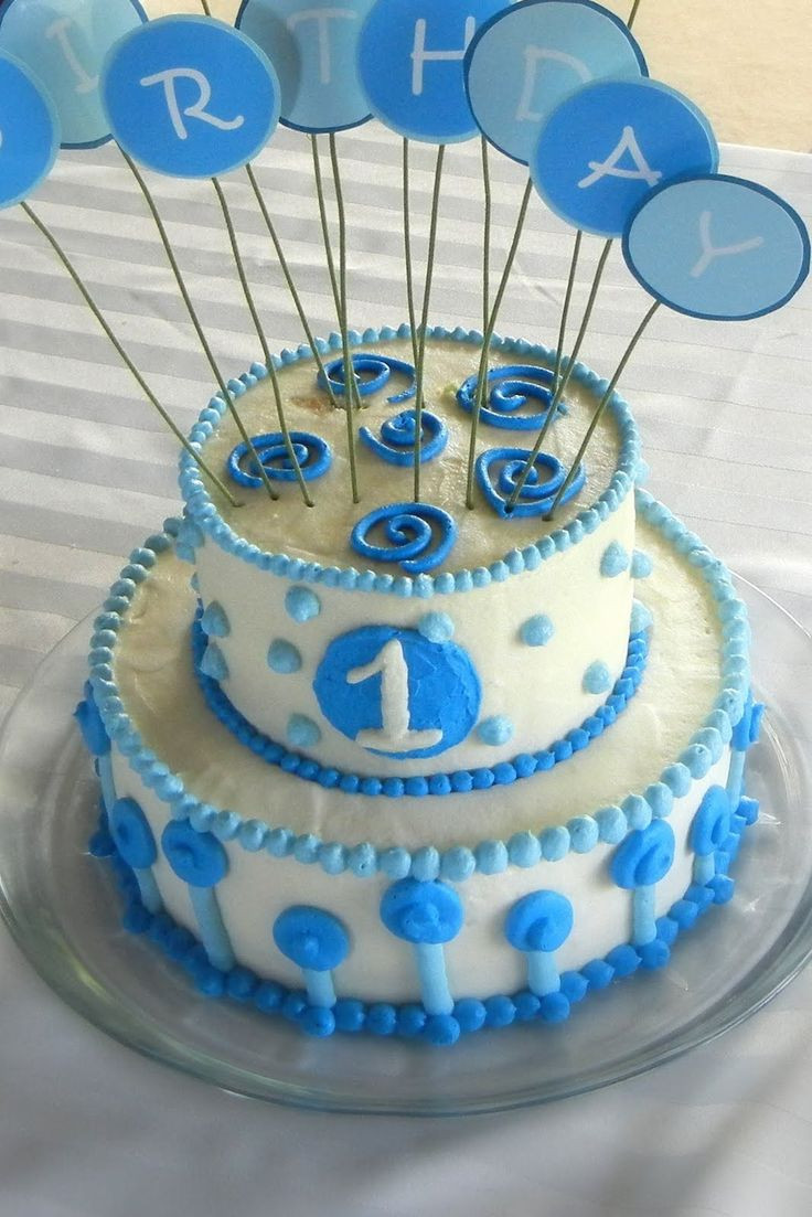 Best ideas about Boy Birthday Cake Ideas . Save or Pin Baby Boy's First Birthday Now.