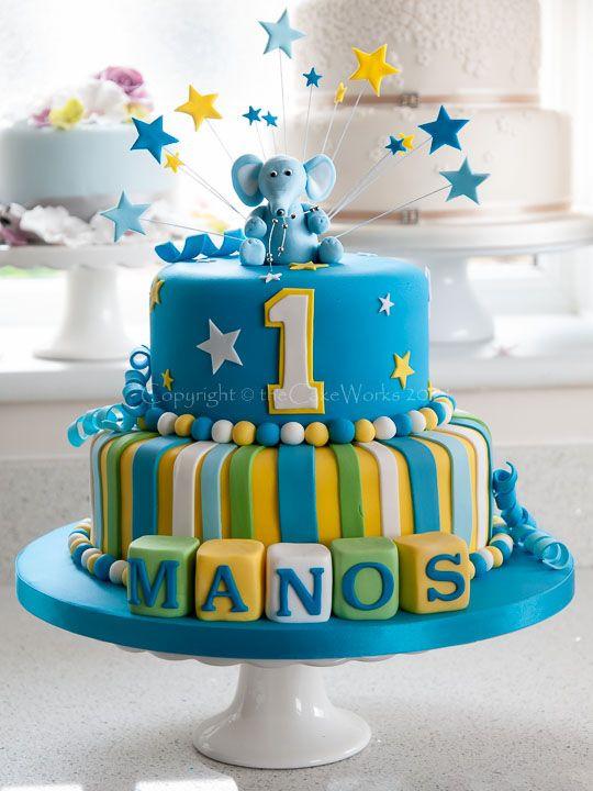 Best ideas about Boy Birthday Cake Ideas . Save or Pin elephant birthday cake ideas Now.