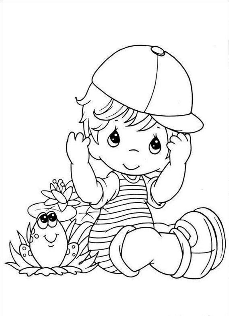 Boy Coloring Book Pages  baby boy coloring page