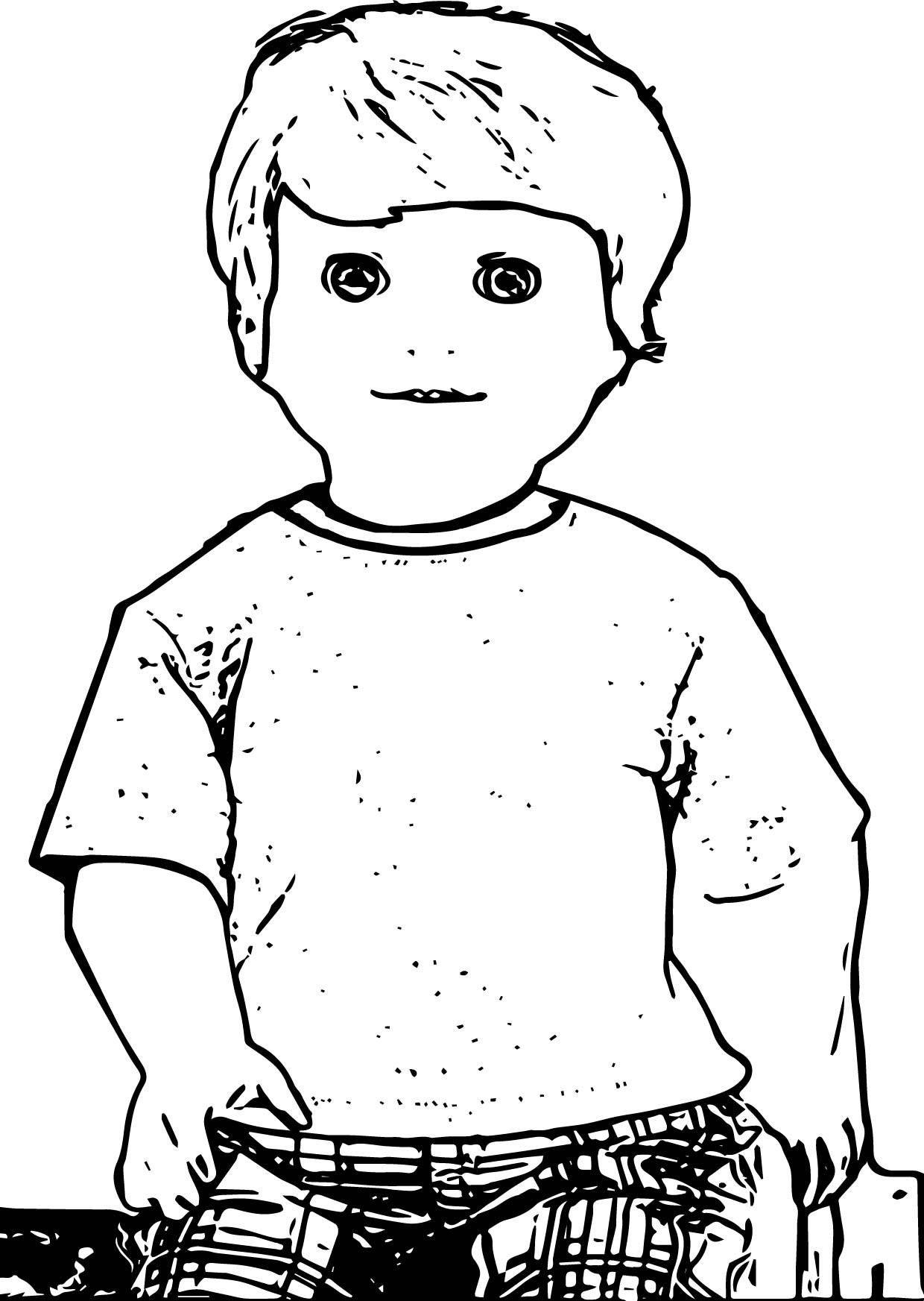 Boy Coloring Book Pages  American Girl Boy Doll Alden Coloring Page