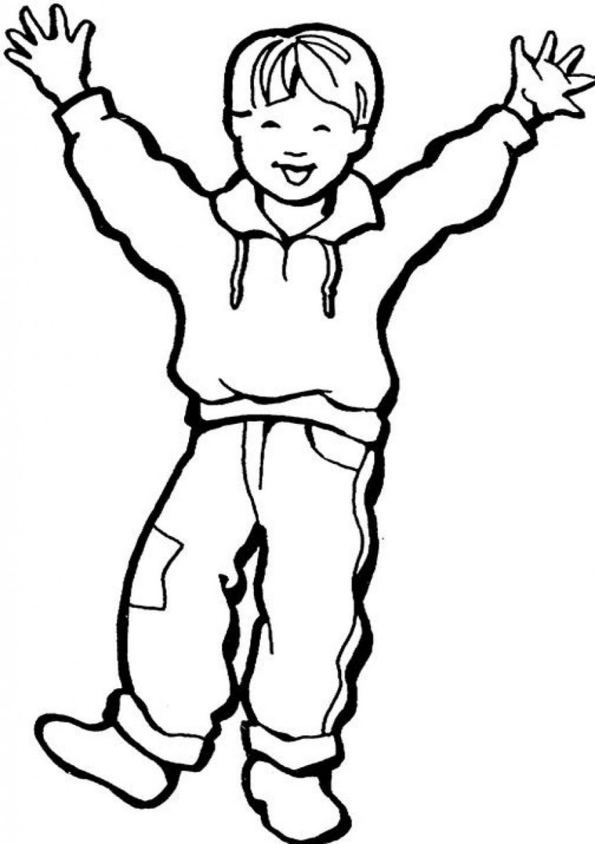 Boy Coloring Book Pages  Free Printable Boy Coloring Pages For Kids
