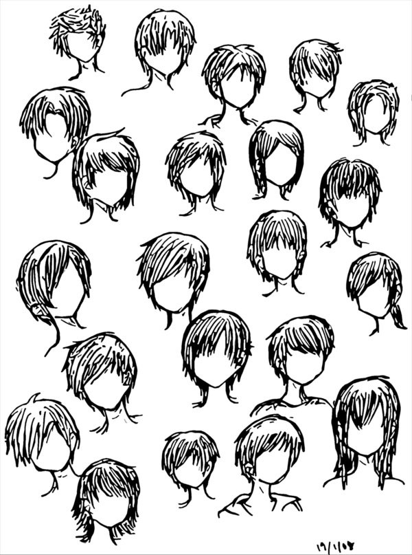 Best ideas about Boy Hairstyles Anime . Save or Pin Boy Hairstyles by DNA lily on DeviantArt Now.