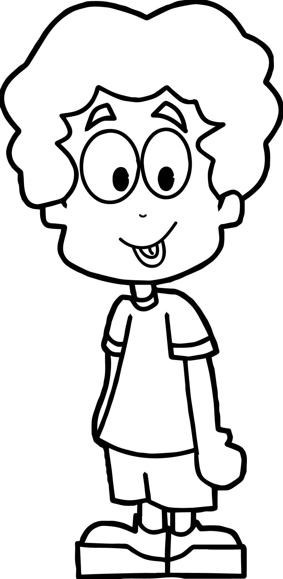 Boys Coloring Pages  Cartoon Boy Coloring Page