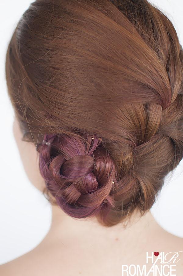 Braid Bun Hairstyles  French braid bun hairstyle tutorial Hair Romance