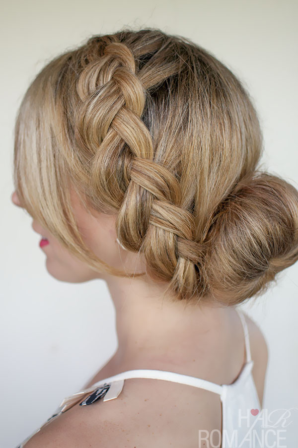 Braid Bun Hairstyles  Braids and Buns Hairstyles For Brides and Girls